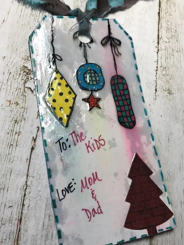 tag 1 - ornaments and Christmas tree