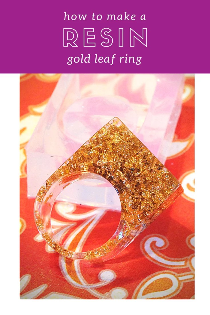 How to make a resin gold leaf ring