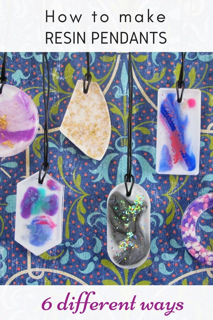 How to make resin painting pendants 6 different ways