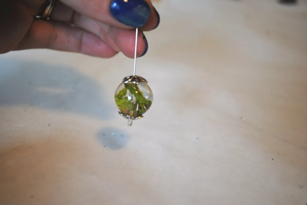 assembling the earring
