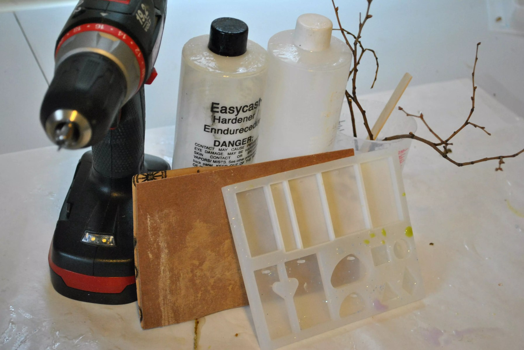 supplies for making wood and resin pendant