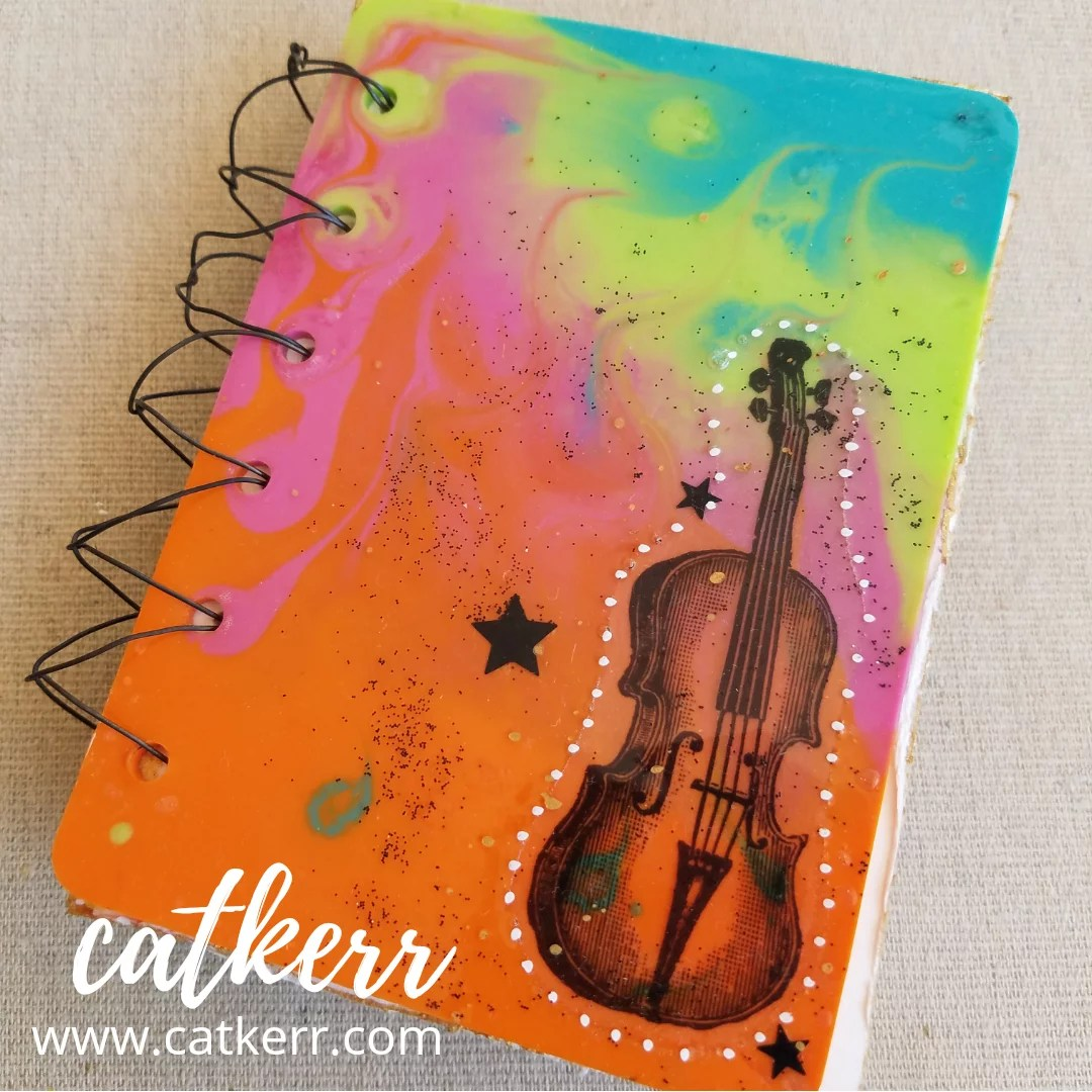 colorful resin book cover