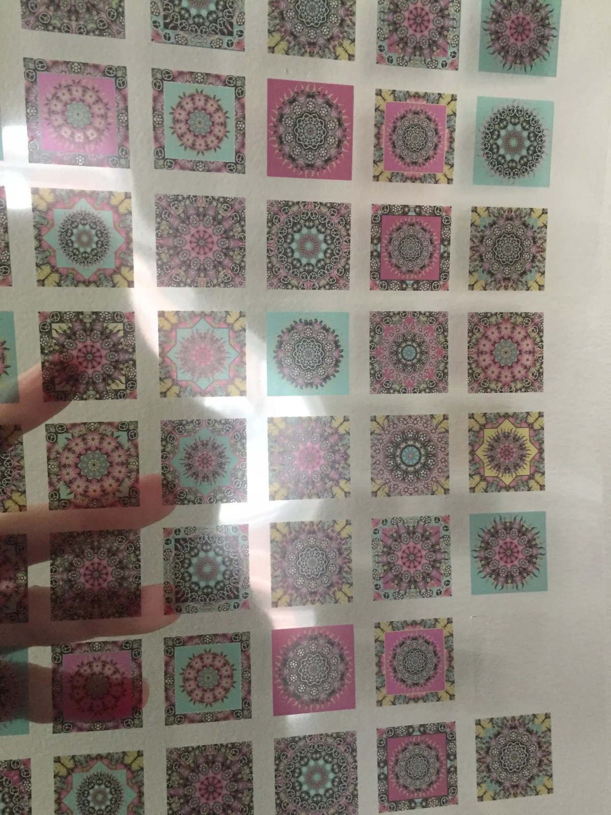 i inch mandala transparencies