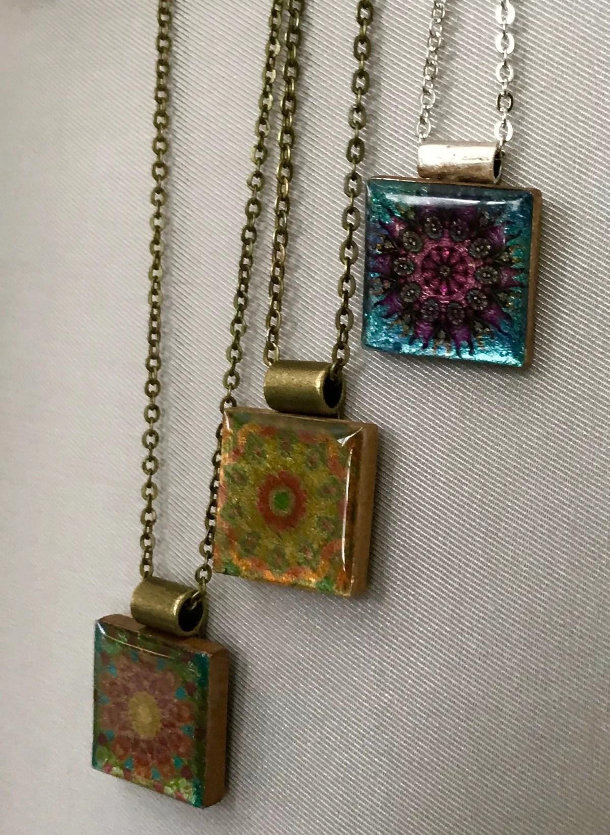 gleaming mandala pendants
