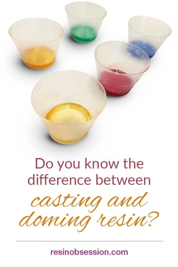 doming resin casting resin