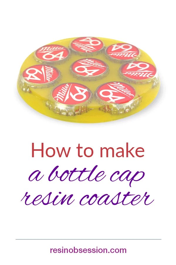 How to make a bottle cap resin coaster
