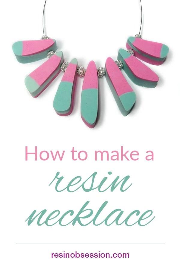 resin necklace DIY