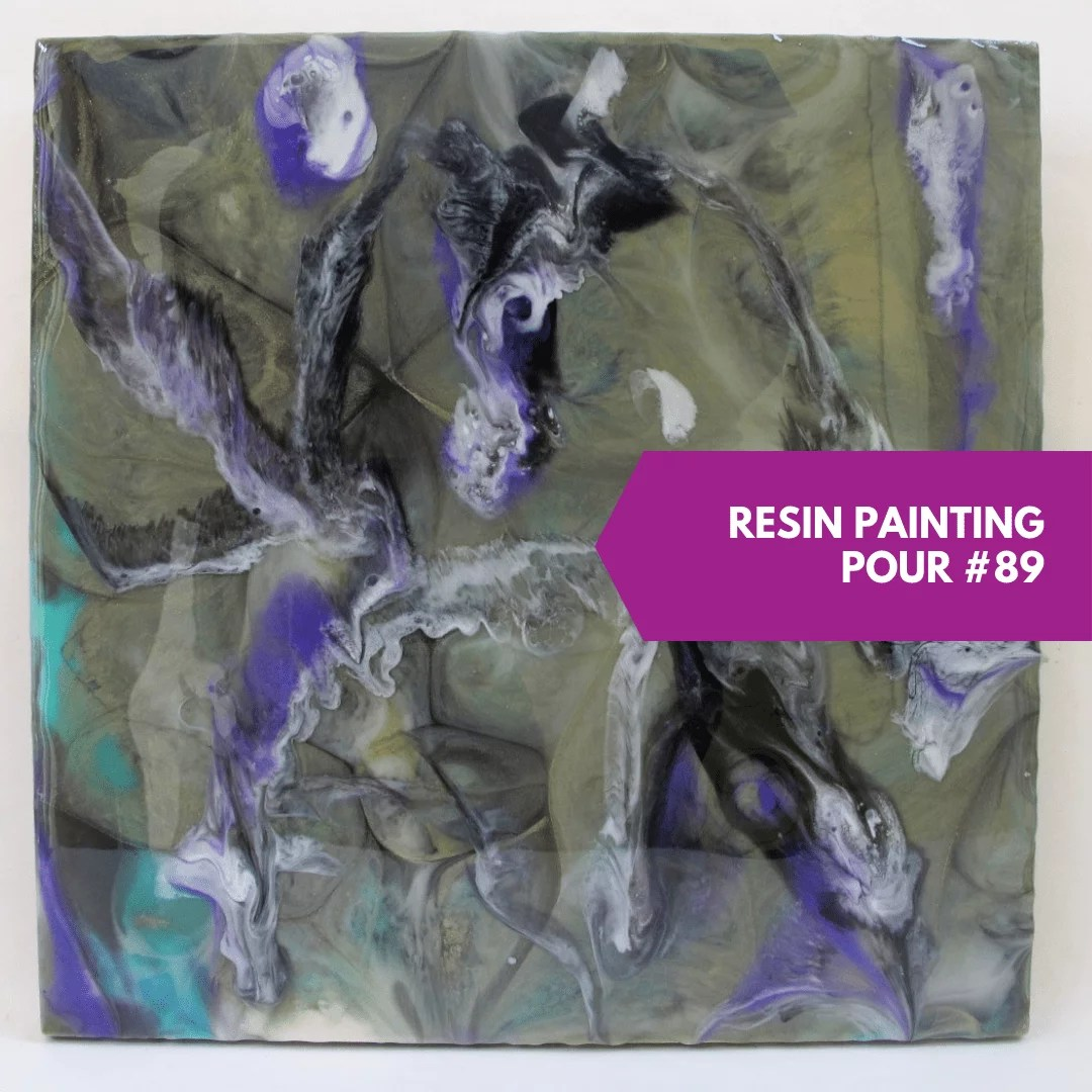 resin painting second layer