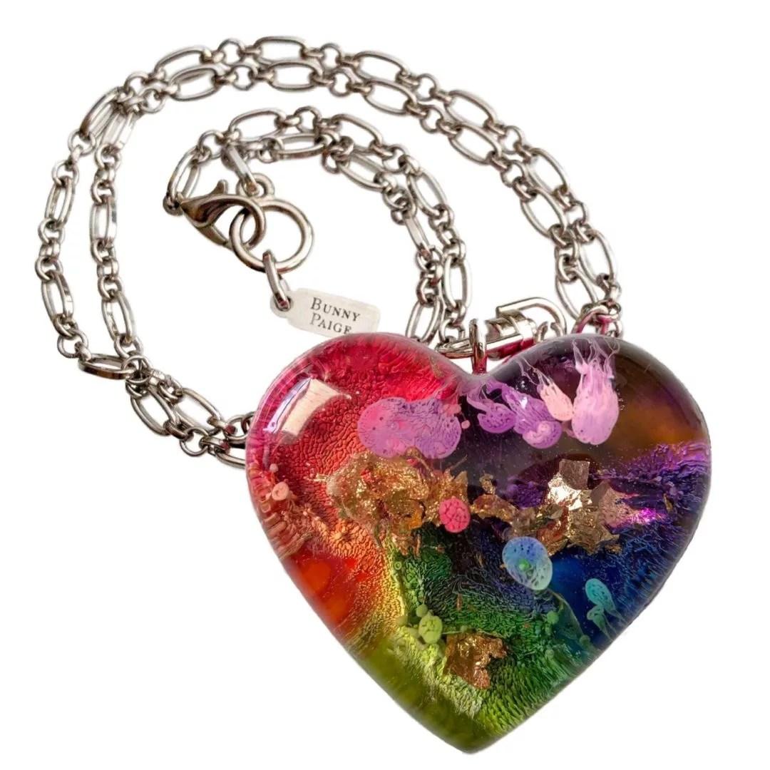 Rainbow aqueous heart Bunny Paige