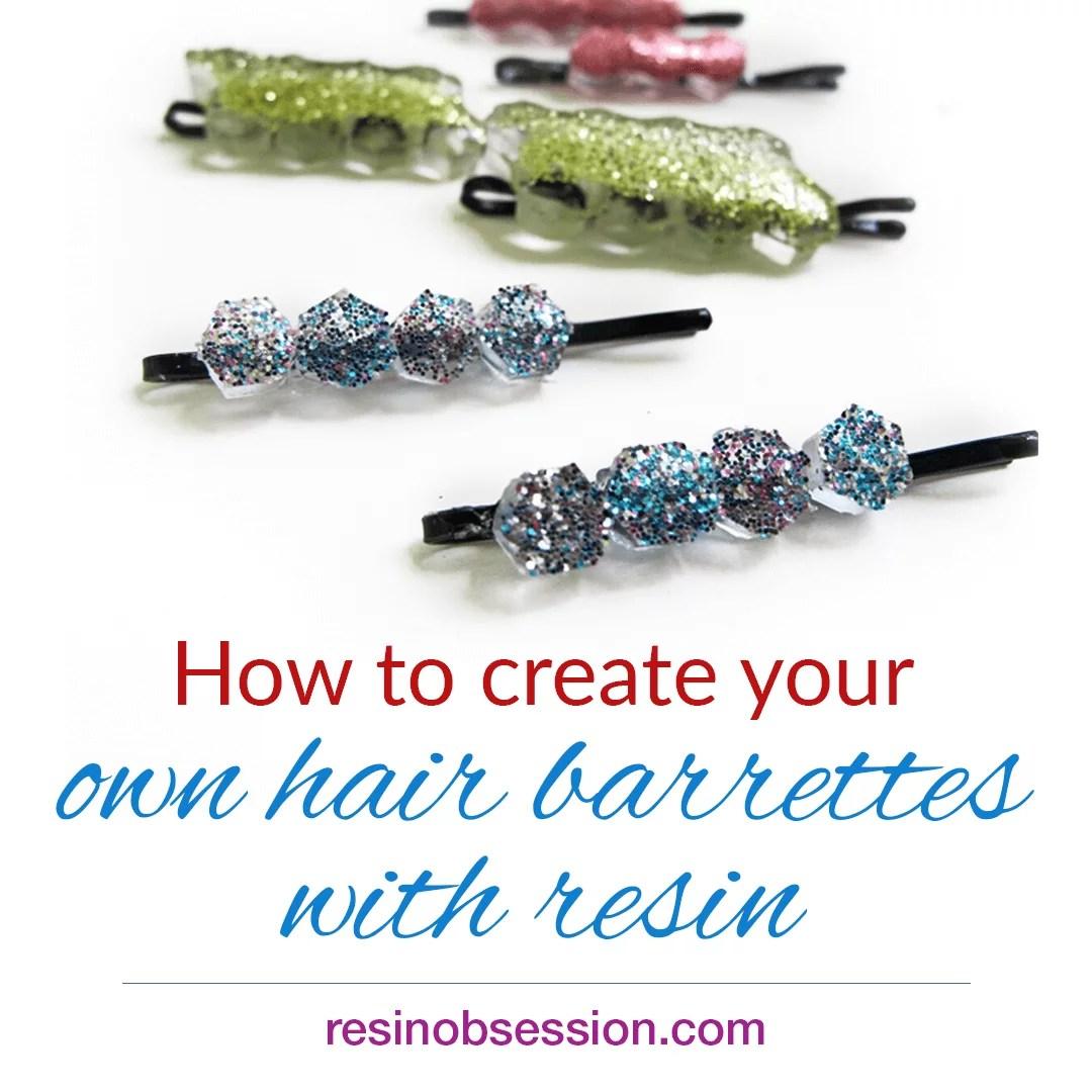 Hair barrettes DIY