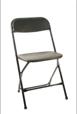 Black Folding Chair Rental