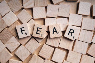 Fear Scrabble Blocks