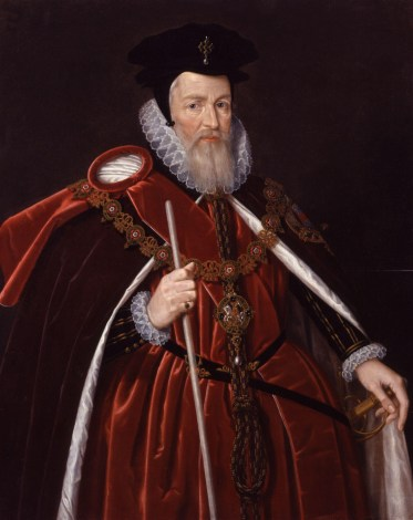 Lord Burghley, William Cecil, Michelangelo's patron.