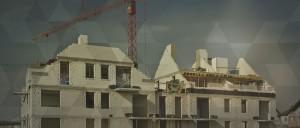 Photo d'un chantier de construction d'un immeuble résidentiel