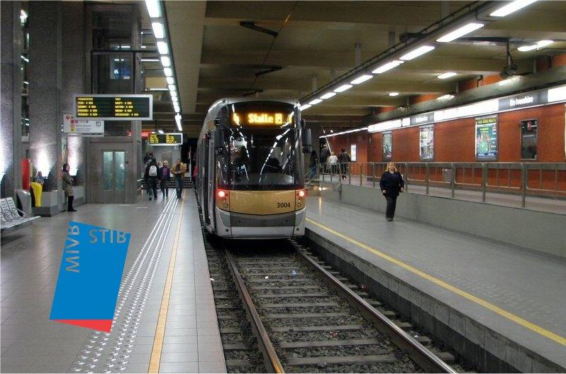 31 janvier 2018 – Arcadis Belgium – STIB – Station métro Simonis – Locaux sociaux au-dessus des voies