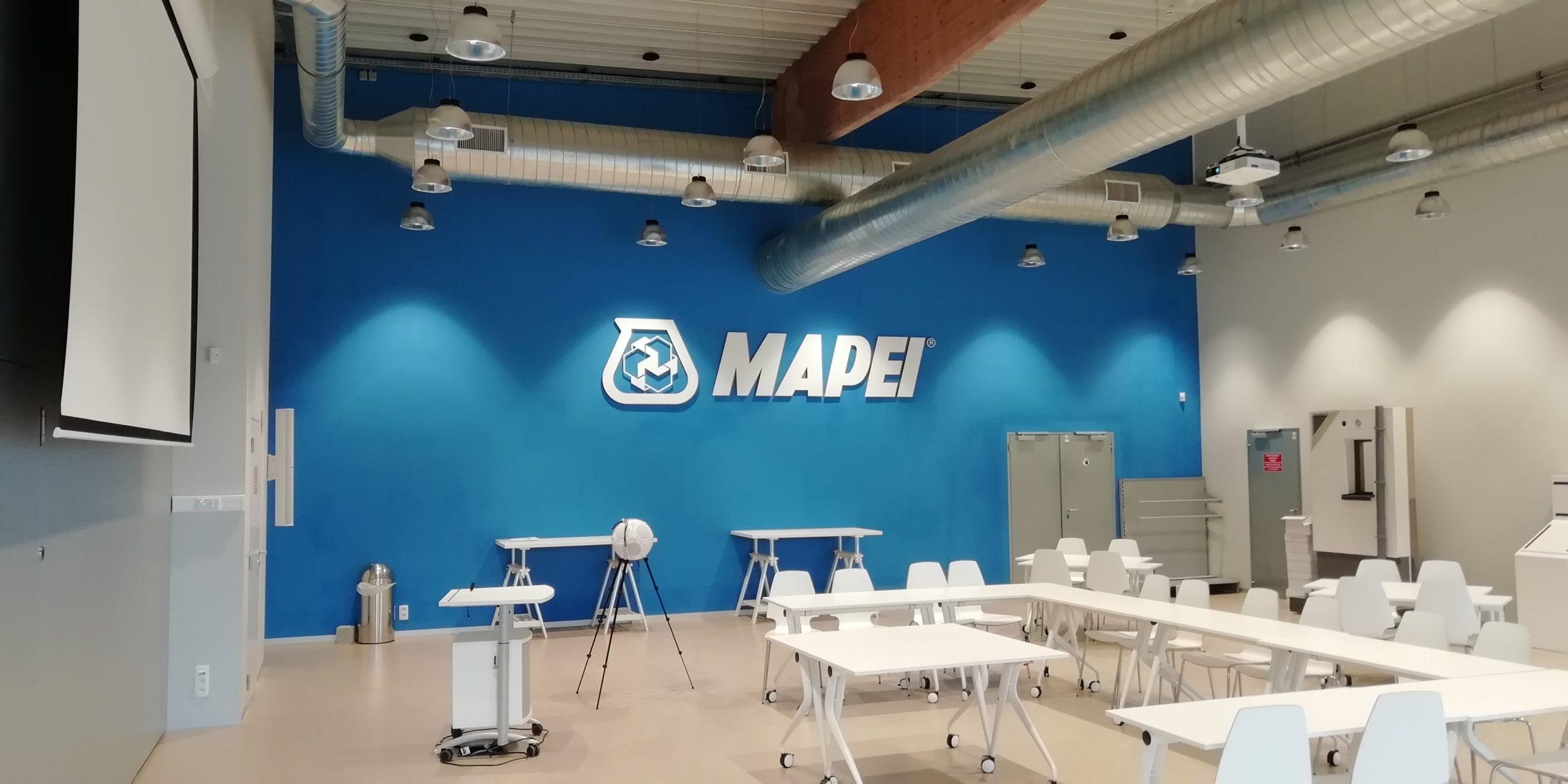 9 octobre 2019 – amélioration du confort acoustique de la salle de formation chez Mapei à Grâce-Hollogne