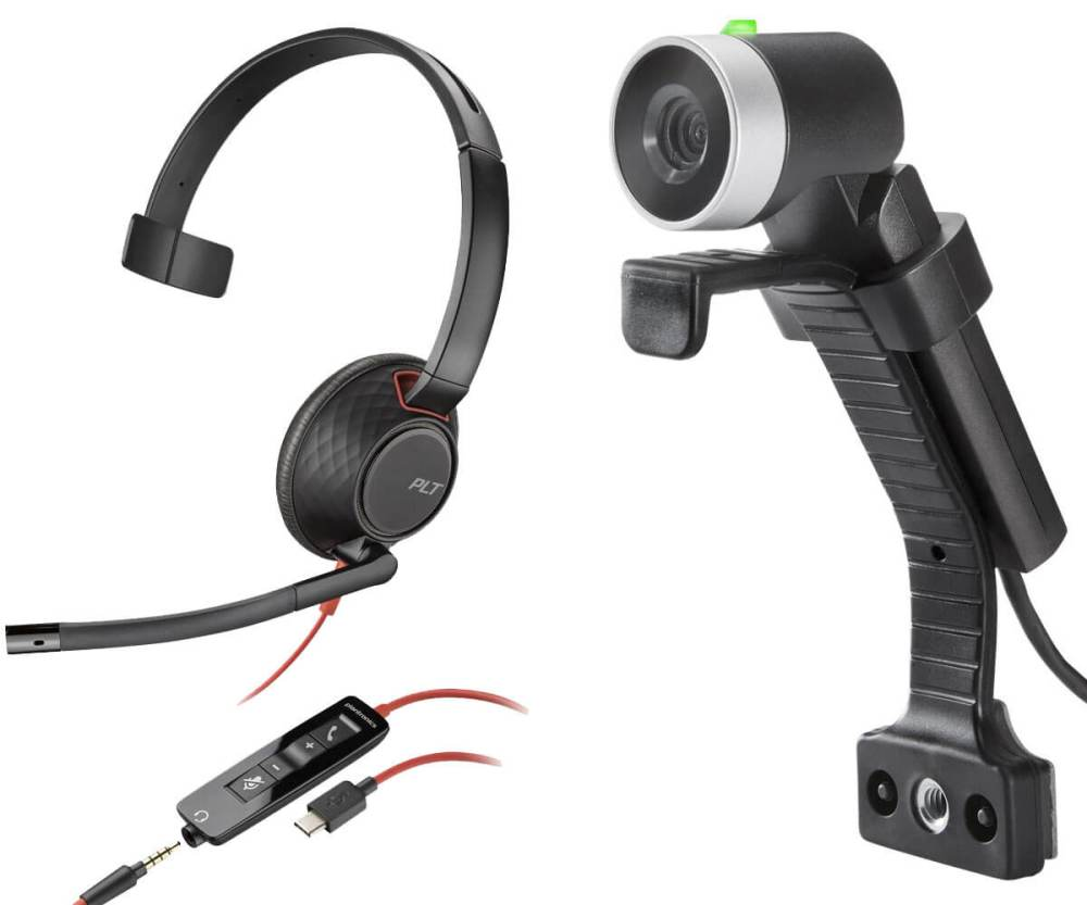 USB-C Mono Headset and HD Cam