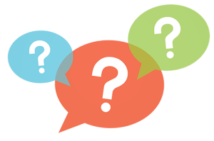 Question mark ISDN