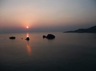 2013年12月6日の夕陽。