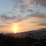 名護城公園から見る夕日①