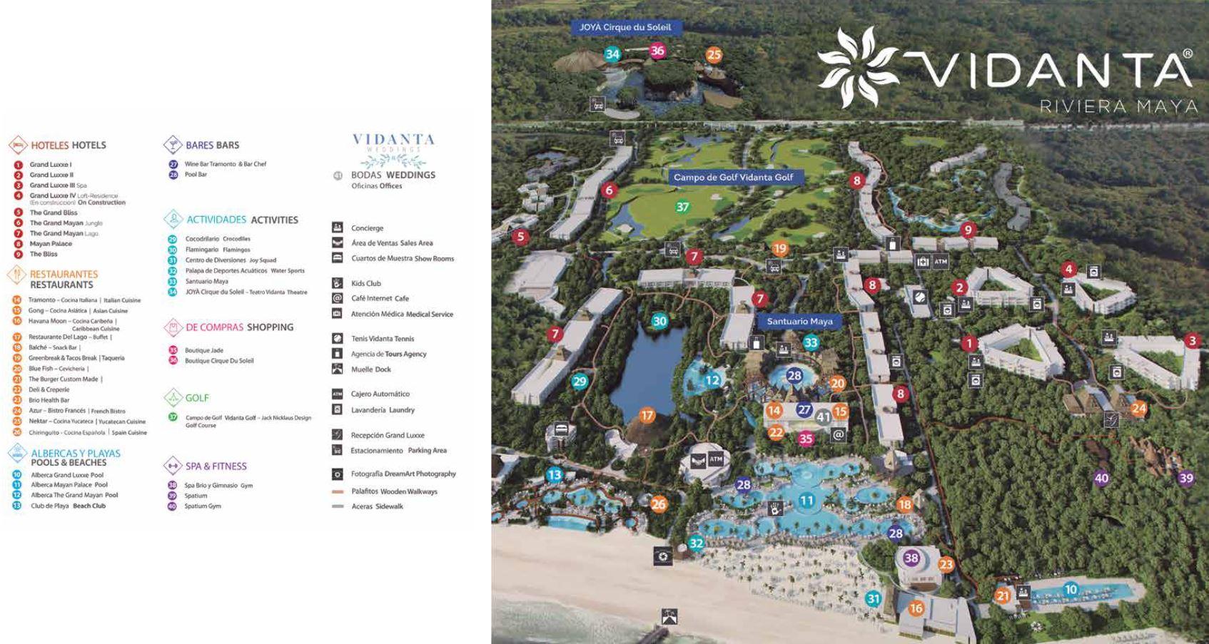 Resort Map The Grand Bliss Riviera Maya Mexico