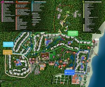 Resort Map Sandos Caracol Eco Resort Riviera Maya Mexico