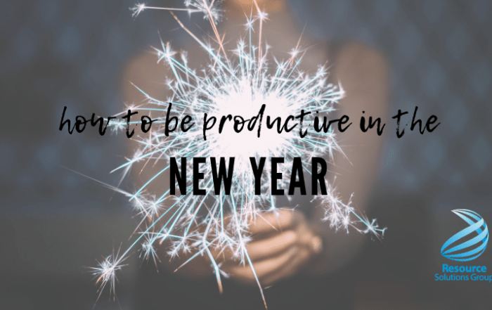 how to be productive in the new year