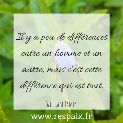 La différence, bien que généralement mal perçue, est une force. Acceptons nos différences et assumons-les.