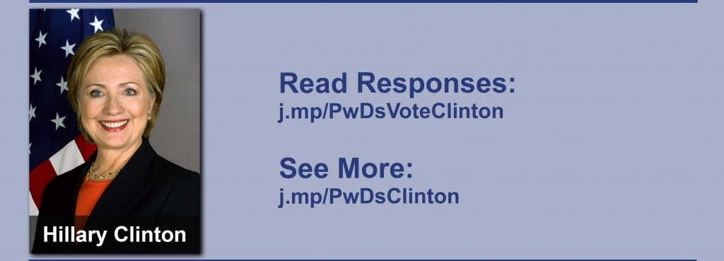 Click on the image to view all of Hillary Clinton's answers to the questionnaire.