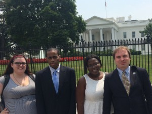 RespectAbility Fellows standing in front of the White House in Summer 2015