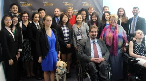 Celinda Lake and RespectAbility Fellows standing and seated in a posed photograph, smiling for the camera