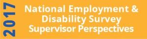 2017 National Employment Disability Survey Supervisor Perspective