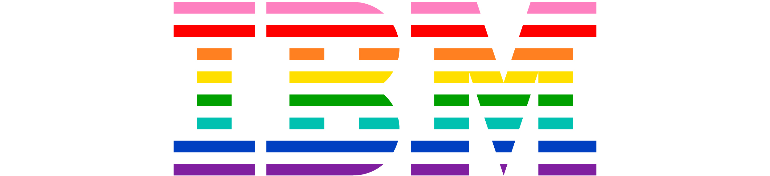 IBM LGBT Logo in multiple colors