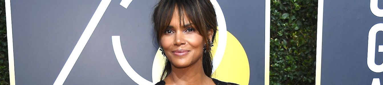 Close up of Halle Berry smiling for the camera