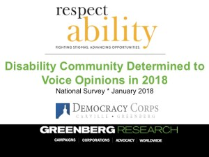 Text: Disability Community Determined to Voice Opinions in 2018