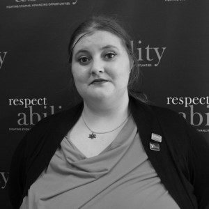 Headshot of Lily Cantor in front of the Respectability banner
