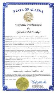 Image of Alaska's NDEAM proclamation