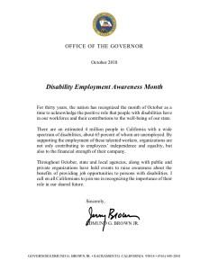 Image of California NDEAM proclamation