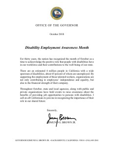 Image of California NDEAM proclamation