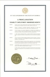 Georgia proclamation NDEAM