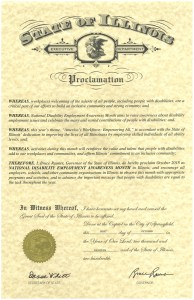 Illinois Proclamation NDEAM