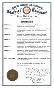 Louisiana proclamation NDEAM