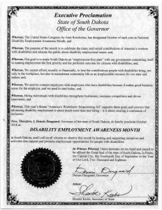 South Dakota proclamation NDEAM