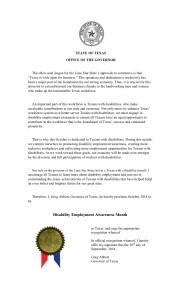 Texas proclamation NDEAM