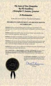 New Hampshire NDEAM proclamation