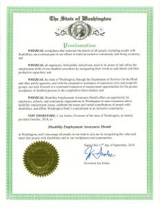 Washington state NDEAM proclamation