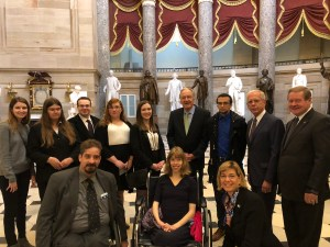 Co-authors of the ADA with RespectAbility Fellows inside the US Capitol Dome