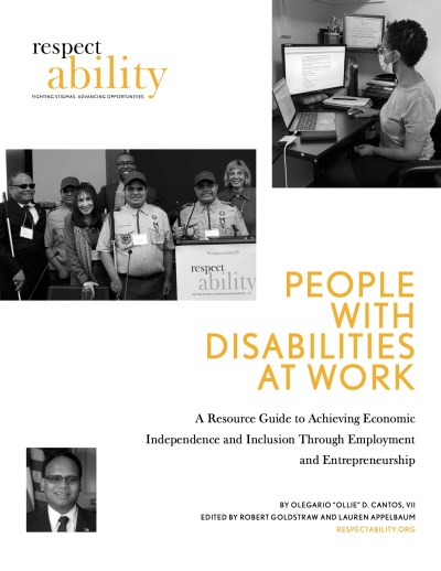Cover page of People with Disabilities At Work Resource Guide