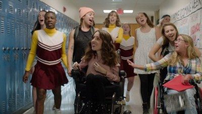 A scene with the cast of Best Summer Ever together in a school hallway