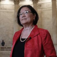 Senator Mazie Hirono inside the Capitol